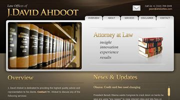 single page design - Ahdootlaw